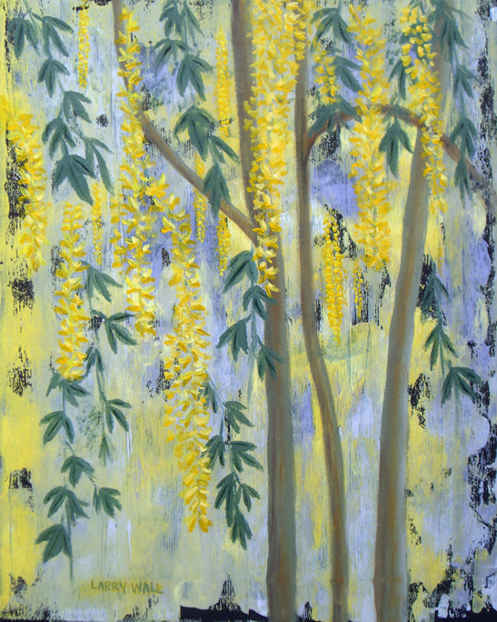 LABURNUM TREE Original Acrylic - 16