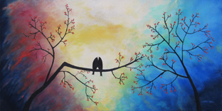 Love Birds oil painting