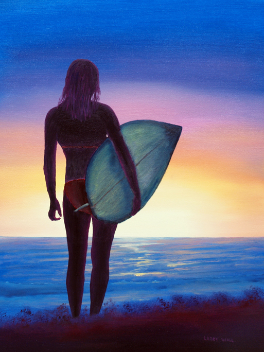 SURFER GIRL BY LARRY WALL