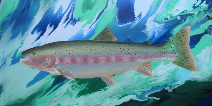Rainbow Trout oil Painting