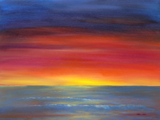 MAUI SUNSET Larry Wall Painting Original Oil - 18