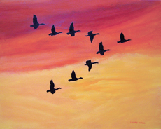 MIGRATION PAINTING BY LARRY WALL