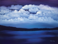 MYSTIC SEA painting by Larry Wall