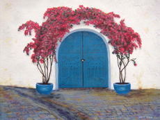 TUNISIAN BLUE DOOR