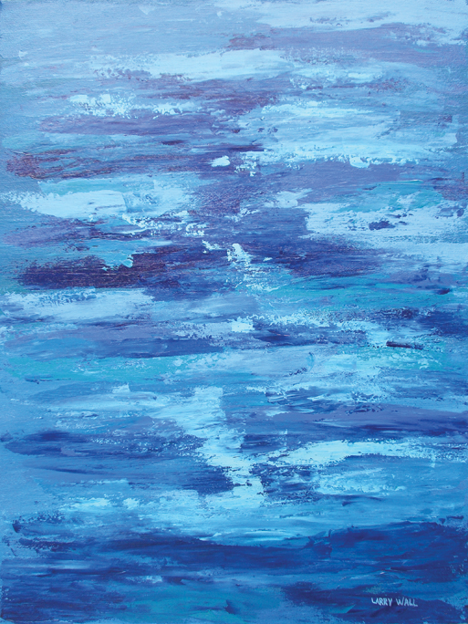 BLUE ON BLUE Oil & Acrylic Paintings by Larry Wall