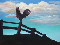 GOOD DAY ROOSTER Original Acrylic