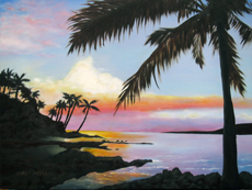 Hawaii sunset painting