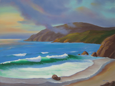 LAGUNA BEACH SUNSET PAINTING BY LARRY WALL