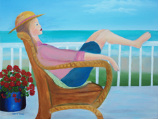 PEACEFUL MOMENTS painting by Larry Wall