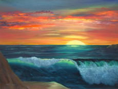 SUMMER SUNSET oil painting