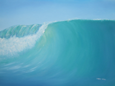 D WAVE painting by Larry Wall