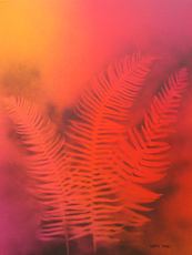 RED FERNS # 2 Paintings by Larry Wall