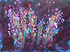 FLOWER POWER Original Acrylic - 18