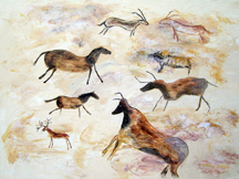 LASCAUX CAVE PAINTINGS # 1 Original Acrylic - 18