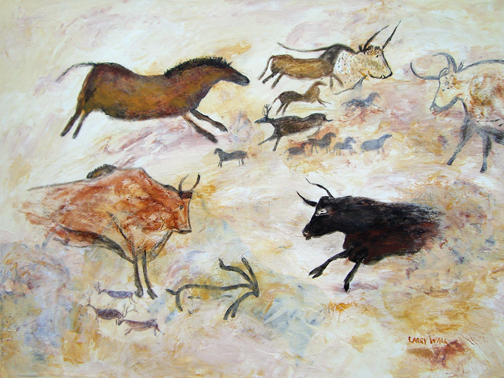 LASCAUX CAVE PAINTINGS # 2 Original Acrylic - 18