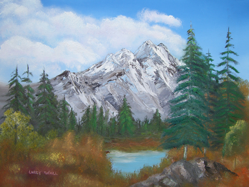MOUNTAIN LAKE Oil Paintings by Larry Wall