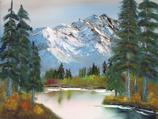 AUTUMN MOUNTAIN Original Oil - 12