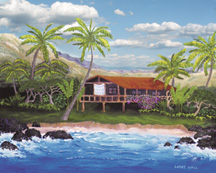 Kona House Original Oil Paintings by Larry Wall - Ocean Surf Waves, Seascape, Marine, Scenic