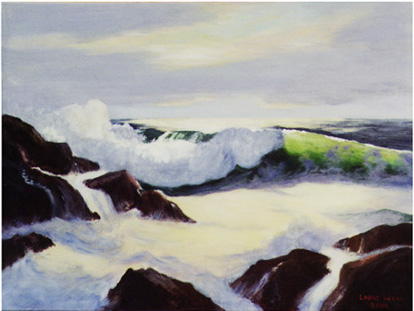 Ocean Wave - Seascape Marine Oil Paintings by Larry Wall Seascape - Marine - Oil Painting - Original and Giclee Reproduction