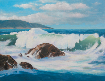 Ocean Wave - Seascape Marine Oil Painting by Larry Wall - Seascape - Marine - Oil Painting - Original and Giclee Reproduction