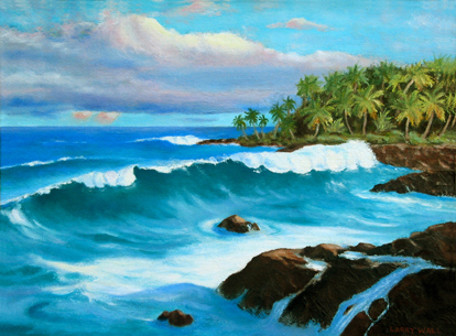 Ocean Wave - Seascape - Marine - Oil Painting - Original and Giclee Reproduction