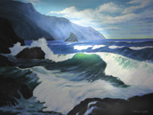 NORTHWEST COAST OIL PAINTING Original Oil Paintings by Larry Wall - Ocean Surf Waves, Seascape, Marine, Scenic